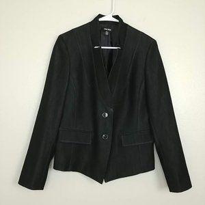 Nine West Blazer Faux Button Pockets Black 12 #O40